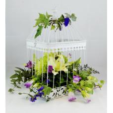 Centro Regalo de Flores con Jaula ref 1