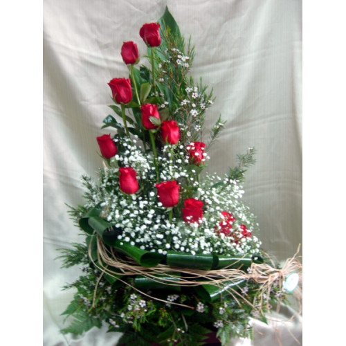 Centro regalo de flores naturales - Como hacer centro de flores artificiales ...