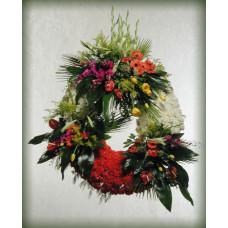 Corona de Flores Naturales con 3 Centros